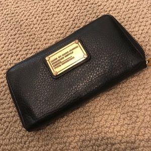 Marc by Marc Jacobs Black Zip Around Wallet